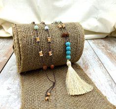 Bohemian Style Necklace Boho Jewelry Tassel by TrueNatureJewelry #tasselnecklace #yogajewelry #boho