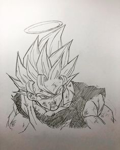 Goku Super Saiyan 2 by watacomi Dragon Ball Z, Dbz Drawings, Manga Art, Dbz Manga, Ball Drawing, Akira, Art Sketches, Goku Super, Super Saiyan