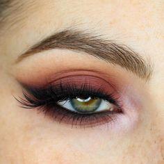 """""""Winged Liner Week Day 1 ❤️ Burgundy Smoked Out Winged Liner _____________. - """"Winged Liner Week Day 1 ❤️ Burgundy Smoked Out Winged Liner ________________________________ - Pretty Makeup, Love Makeup, Makeup Inspo, Makeup Inspiration, Makeup Geek, Sleek Makeup, Dress Makeup, Gorgeous Makeup, Natural Makeup"""