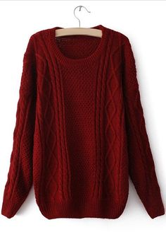 Sammy Dress by Retro Style Cable Knit Long Sleeve Solid Color Sweater Knit Shirt, Sweater Shirt, Comfy Sweater, Heart Sweater, Red Shirt, Look Fashion, Retro Fashion, Gq Fashion, Fashion Vintage