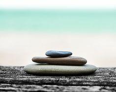 Cairn Rock Stack, Ocean photography, Zen, Balance, blue cyan, Sand, Summer Landscape, Beach Home Decor, Cottage Art, 8x10 Calm Zen Photo