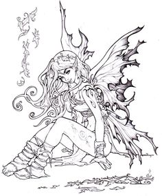 Autumn fairy by ~Pallat on deviantART tattoo Autumn fairy by Pallat on DeviantArt Fairy Coloring Pages, Adult Coloring Book Pages, Printable Coloring Pages, Coloring Books, Fall Coloring, Fairy Drawings, Free Adult Coloring, Autumn Fairy, Autumn Forest