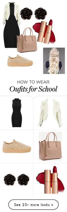 """Untitled #315"" by amandine-roquencourt on Polyvore featuring Puma and Erica Lyons"