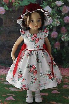 """OOAK Petite Jardin Dress Ensemble 13"""" Effner Little Darling Doll Betsy"""