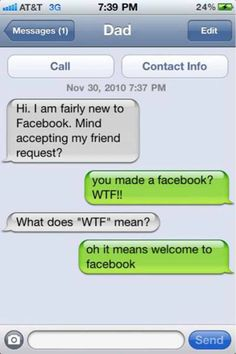 Dad does not know what it means funny quotes, funny memes, hilarious texts, Funny Texts Crush, Funny Text Fails, Funny Text Messages, Text Memes, Funny Shit, Haha Funny, Hilarious Texts, Funny Stuff, Funny Memes