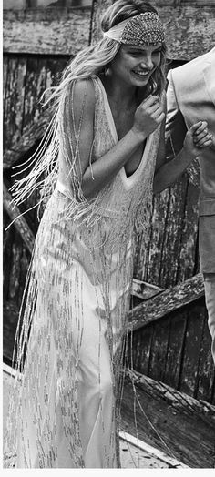 hippie wedding boho ...love love this. Or the bride could have a head piece like this instead of a flower crown like the bridesmaids.