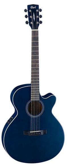 Guitare folk électro-acoustique bleu foncé satiné - Cort