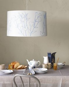 """See the """"Flower-Outline Lampshade"""" in our Floral Decorating Ideas gallery"""