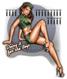 Doing it for the boys! Pin-up Girl...love this one!