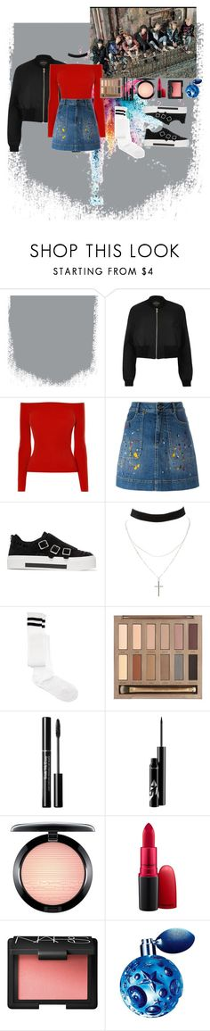 """Outfit# 100"" by lizzy33652 ❤ liked on Polyvore featuring Givenchy, River Island, Karen Millen, Alice + Olivia, Alexander McQueen, Charlotte Russe, ASOS, Urban Decay, MAC Cosmetics and NARS Cosmetics"