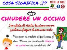 #impara #italiano #modididire #chiudereunocchio #initalia