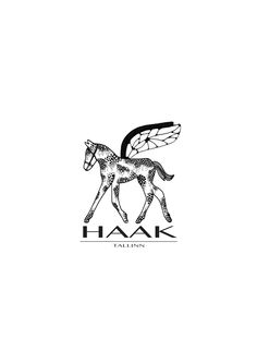 HAAK logo / One foal with such a goal could ever know where the vigorous wings might carry the slightly bright life of a mystery flight #logo #haak #foal #bee #wings #fashion #tallinn #estonia
