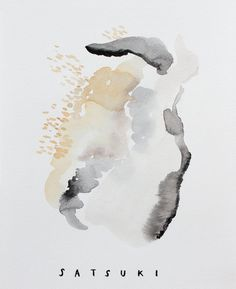 Gentle and Minimal Watercolor Prints by Satsuki Shibuya
