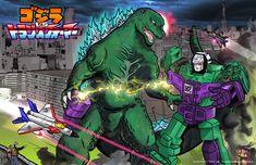 Godzilla v Transformers by ErikHodson.deviantart.com on @deviantART