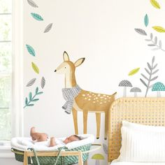 Deer  Fabric Wall Decal  Woodland  Mej Mej