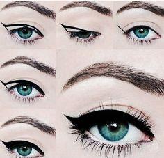 Imagem de eyeliner, makeup, and eyes