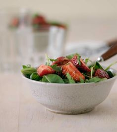 Strawberry-and-Rocket-Salad with Balsamic Vinaigrette