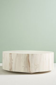 Swirled Drum Coffee Table by Anthropologie in Assorted Size: L, Tables - 茶几 - Design Rattan Furniture Drum Coffee Table, Unique Coffee Table, Drum Table, Coffee And End Tables, Round Coffee Table, Modern Coffee Tables, Side Tables, Natural Wood Coffee Table, Leather Coffee Table