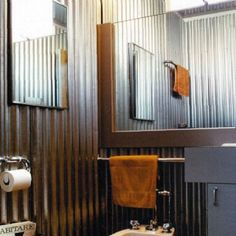 Man Cave Bathroom Cover Walls In That Sheet Metal