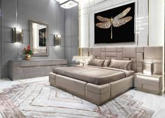 Royal luxury bedroom designs bedroom royal luxury bedroom furniture luxury rustic bedroom home decorations ideas for birthday Modern Luxury Bedroom, Luxury Bedroom Furniture, Luxury Bedroom Design, Master Bedroom Design, Luxurious Bedrooms, Luxury Interior, Home Interior, Home Bedroom, Luxury Bedding