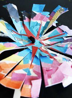 Paper Plate FireWorks Craft  #kids  #crafts  #4thofJuly