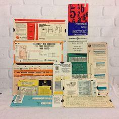 Vintage General Electric Calculator Selector Engineer Charts