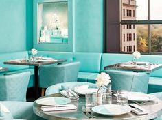 Tiffany & Co. New York Blue Box Cafe - Tiffany Cafe Photos Tiffany Blue Box, Tiffany & Co., Tiffany Store, Tiffany Blue Rooms, Tiffany Blue Color, Audrey Hepburn, Breakfast At Tiffany's, Tiffany Breakfast, Deco Turquoise
