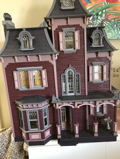 My Beacon Hill Dollhouse Beacon Hill Dollhouse, Paper Mache Projects, Sims Building, Doll House Plans, Tiny Furniture, Miniature Houses, Greenhouses, Small World, Doll Houses