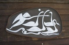 Knabstrup Wall Relief nordic Swans Piotr Baro by Forgottenworks, $80.00