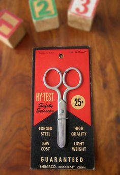 Vintage Child's Scissors  Child's Safety by RedDressHanger on Etsy, $12.00