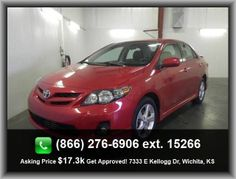 2013 Toyota Corolla S Sedan  Trip Computer, Front Fog/Driving Lights, Mp3 Player, Passenger Vanity Mirror, Intermittent Window Wipers, Head Airbags - Curtain 1St And 2Nd Row, 1.8 Liter Inline 4 Cylinder Dohc Engine, Daytime Running Lights, Rear Spoiler,