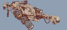 Concept Art: Sci-Fi Weapons by Elijah McNeal Sci Fi Weapons, Weapon Concept Art, Fantasy Weapons, Weapons Guns, Armas Ninja, Armadura Medieval, Future Weapons, Arte Cyberpunk, Cool Guns