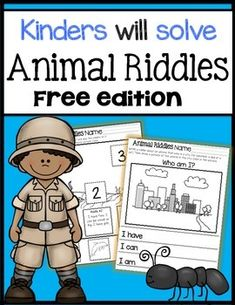 Animal activities: FREE animal riddles worksheets.