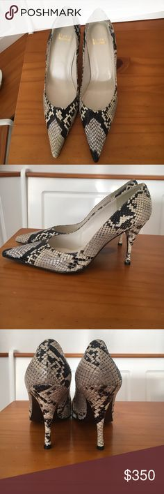 Stuart Weitzman - Snake Skin Heels - Size 7 Stuart Weitzman - Snake Skin Heels - Size 7. Gorgeous Pointy toe heels/pumps. Excellent condition! Worn by my mother for maybe 2 minutes, realized they were a little too tight. Stuart Weitzman Shoes Heels