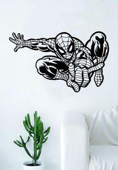 Spiderman Wall Decal Vinyl Art Sticker Living Room Bedroom Decor Movies DC Comics Teen