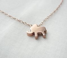 Rose Gold Lucky Elephant Necklace