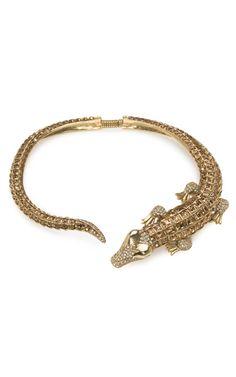 Kenneth Jay Lane Celebrates 50 Years  Alligator Collar Necklace