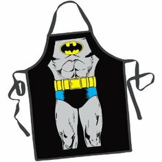 Batman Apron. This is pretty much a requirement.