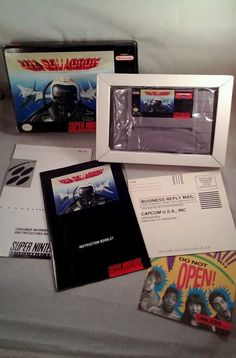 U.N. Squadron (Super Nintendo, 1991) Snes NES Game Box Book #super #nintendo  Lots of other Nintendo items now on auction @ http://www.ebay.com/usr/agwoodwinds
