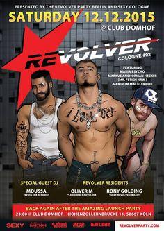 Party >> REVOLVER PARTY COLOGNE , Köln am Samstag, 12.12.2015 23:00