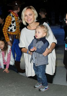 Malin Akerman brought her adorable son, Sebastian, to Disney on Ice's Let's Celebrate show in LA on Thursday.