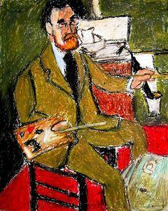Henri Matisse, Autorretrato, 1918. Imagen tomada de http://www.djibnet.com/photo/wet+canvas/henri-matisse-self-portrait-1918-405945367.html