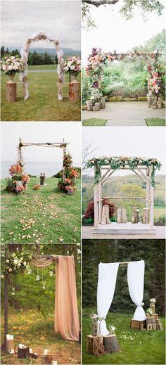 rustic tree stump wedding decor ideas / http://www.deerpearlflowers.com/rustic-woodsy-wedding-trend-tree-stump/ #rustic #rusticwedding #countrywedding #weddingideas #weddingdecoration