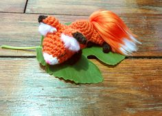 Crochet Pattern: Poseable Fox & Handmade Fur. Available on Etsy $4.00 by Jessie at CrayonsCrochet. Utterly adorable plushie. The fluffy tail is absolutely brilliant and gives this wild but friendly fox wonderful character. A perfect, unique gift for a perfect, unique little person.
