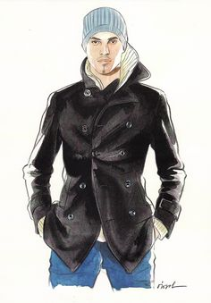 Fashion illustration (men) by Lamont O'Neal
