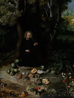 Jan Brueghel the Younger,  1601 Antwerp - 1678 ibid   FOREST LANDSCAPE WITH SAINT IGNATIUS OF LOYOLA(detail)