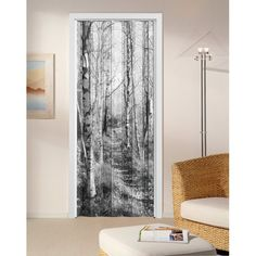 Forest Internal Folding Concertina Door Concertina Doors, Internal Folding Doors, Tapestry, Curtains, Shower, Black And White, Prints, Home Decor, Hanging Tapestry