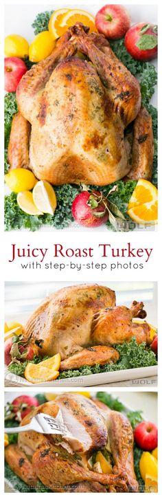 Juicy Roast Turkey. This turkey has the juiciest, most flavorful turkey breast! KEEPER!!  Thanksgiving main dish recipe