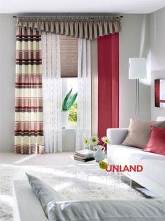 Unland Linea, Fensterideen, Vorhang, Gardinen und Sonnenschutz - curtains, contract fabrics, pleated blinds, roller blinds and more. Made in Germany