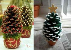 Dennenappels kerstboom